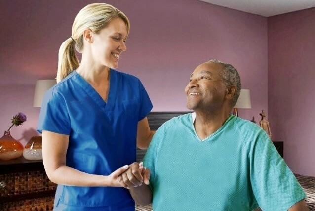 Home Care San Diego Nurse Helping Senior Recovery