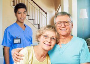 Parkinson's Home Care Senior San Diego Caregiver and Couple