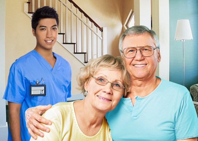 Parkinson's Home Care Senior San Diego Caregiver and Couple