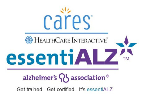 Caregiver Trainings essentiALZ and Cares HealthCare Logo