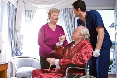 Hospice Care Home Care San Diego Caregiver Assisting Senior