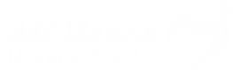 All Heart Home Care San Diego White Logo Website