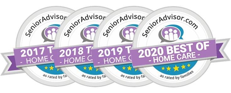 2017 2018 2019 2020 Senior Advisor Awards All Heart Home Care San Diego