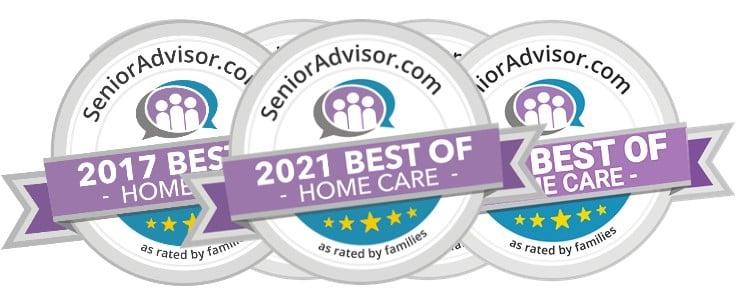 2017 2018 2019 2020 2021 Senior Advisor Awards All Heart Home Care San Diego